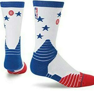 Stance men's Philadelphia 76ers socks large 8-12